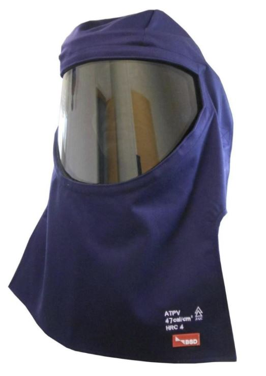 arc flash ppe switching hood navy blue