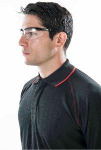 ARCBAN Black Long Sleeved NOMEX POLO close up