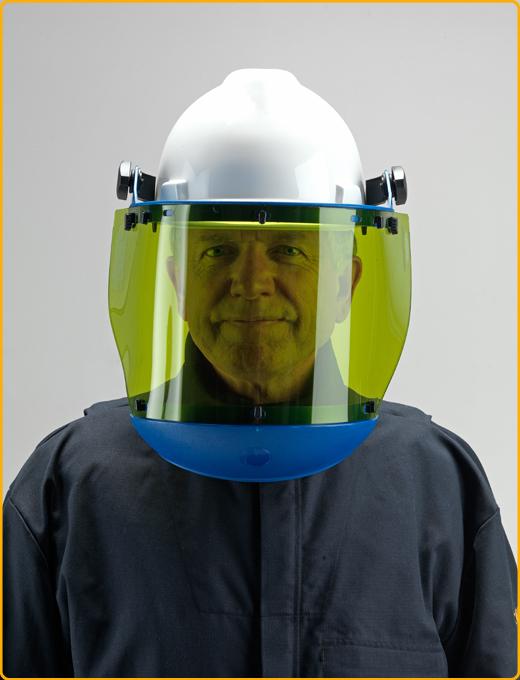 Arc Flash Helmet - Man wearing 2 layer balaclava hood