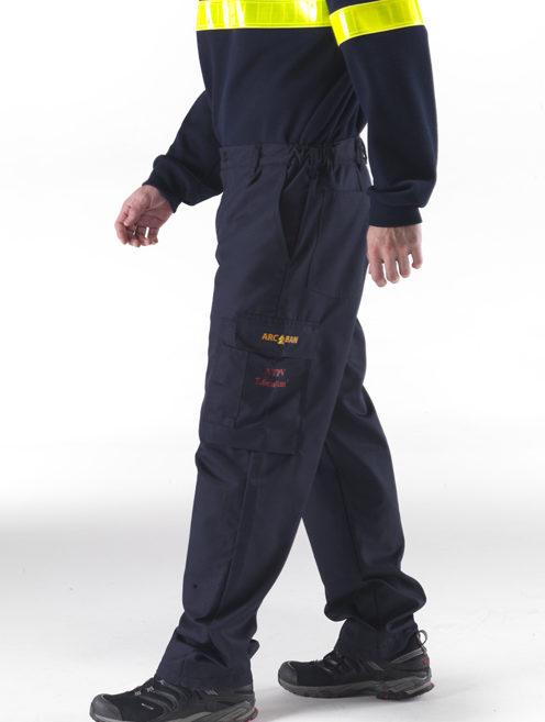 wearing black arcban cargo trouser nomex
