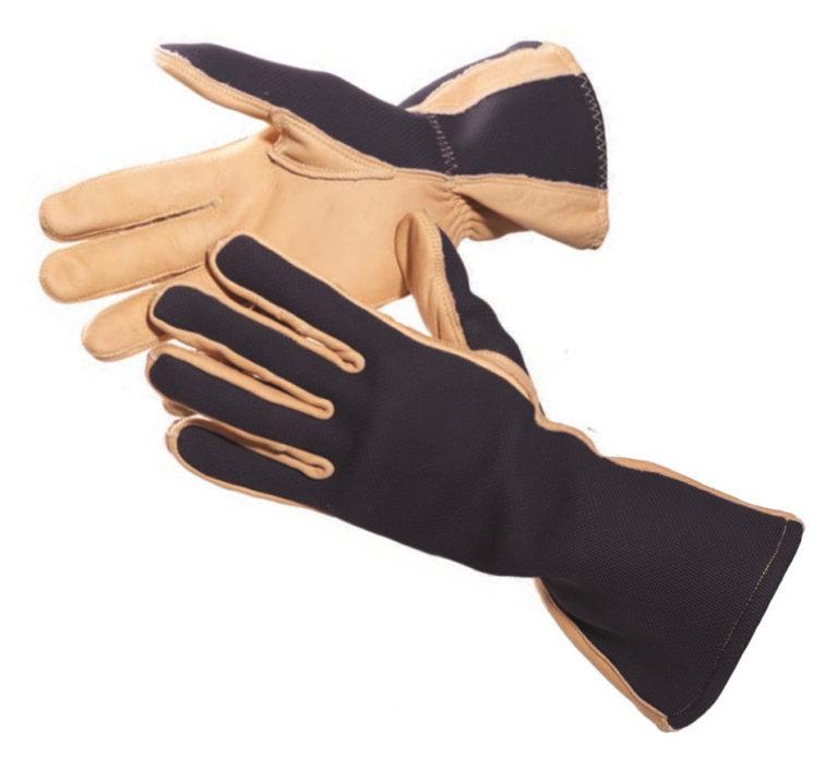 Brown black Dehn Arc Protective Gloves neoprene arc flash kevlar