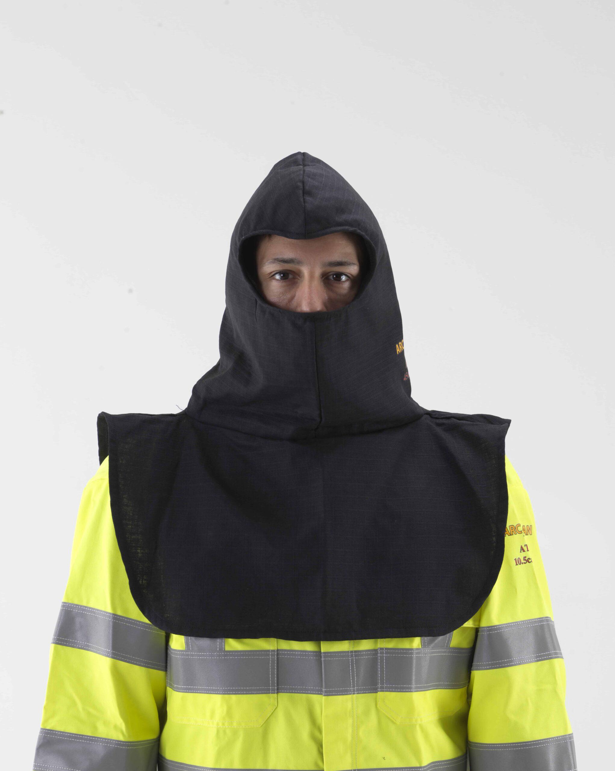 Arc flash protection balaclava hood front