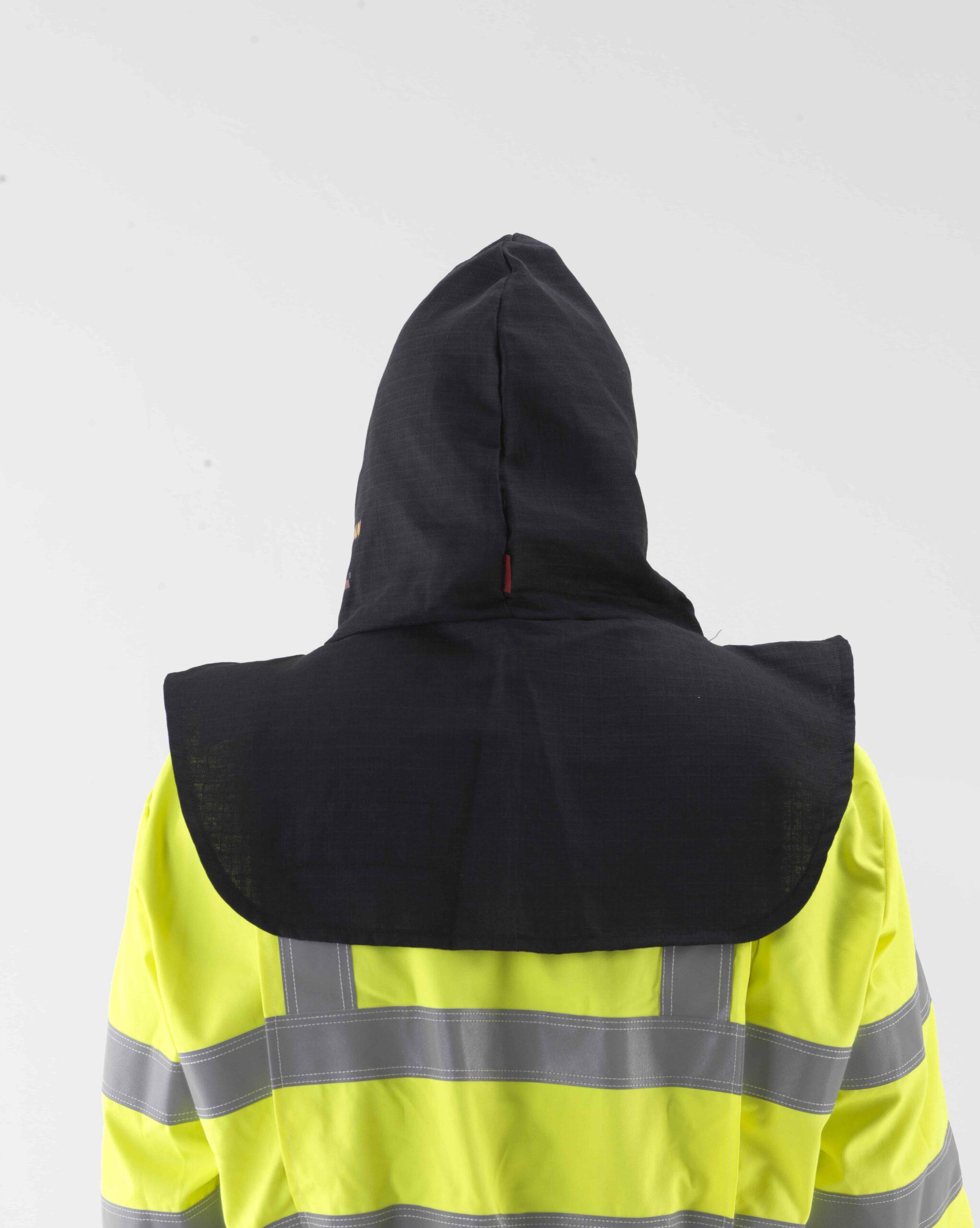 Arc flash protection balaclava hood back