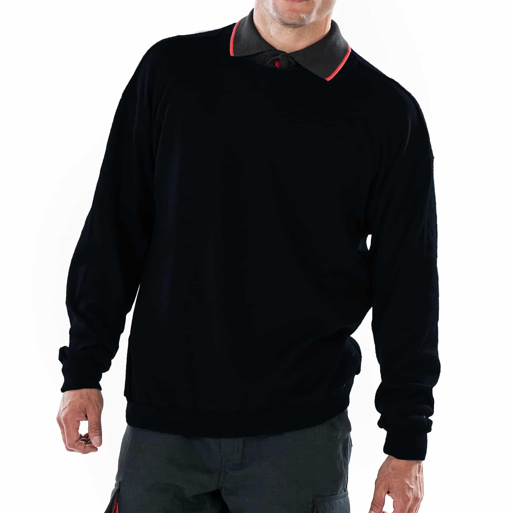 ArcBan® Black Sweatshirt close up of front