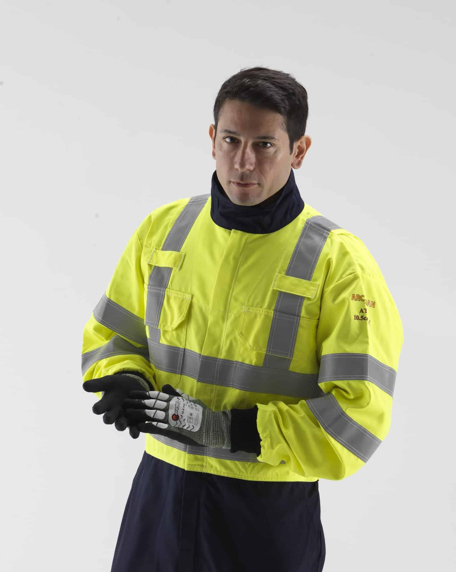 man wearing ARC Protection Gauntlet