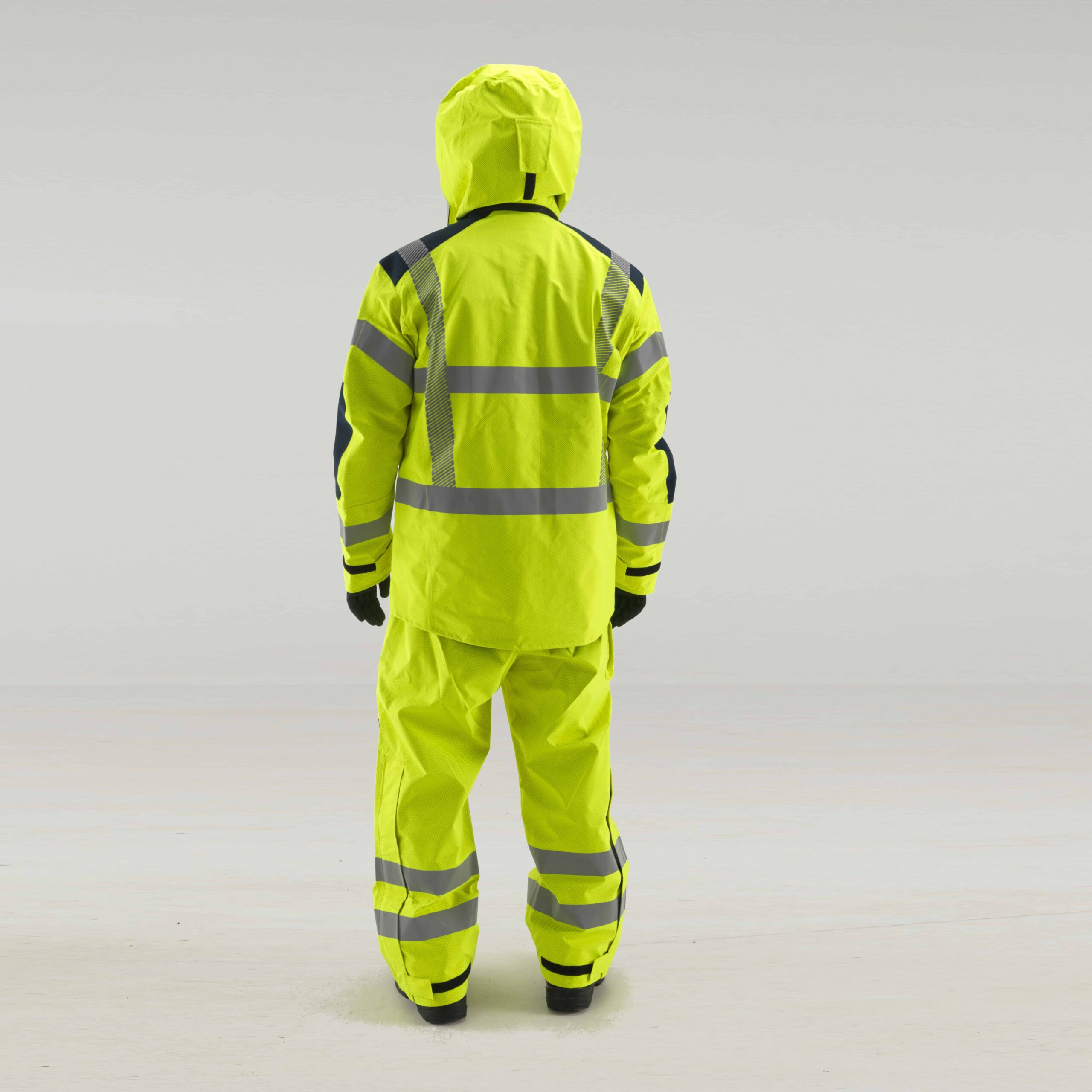 FK28 PYRAD Coverall back view with hood up