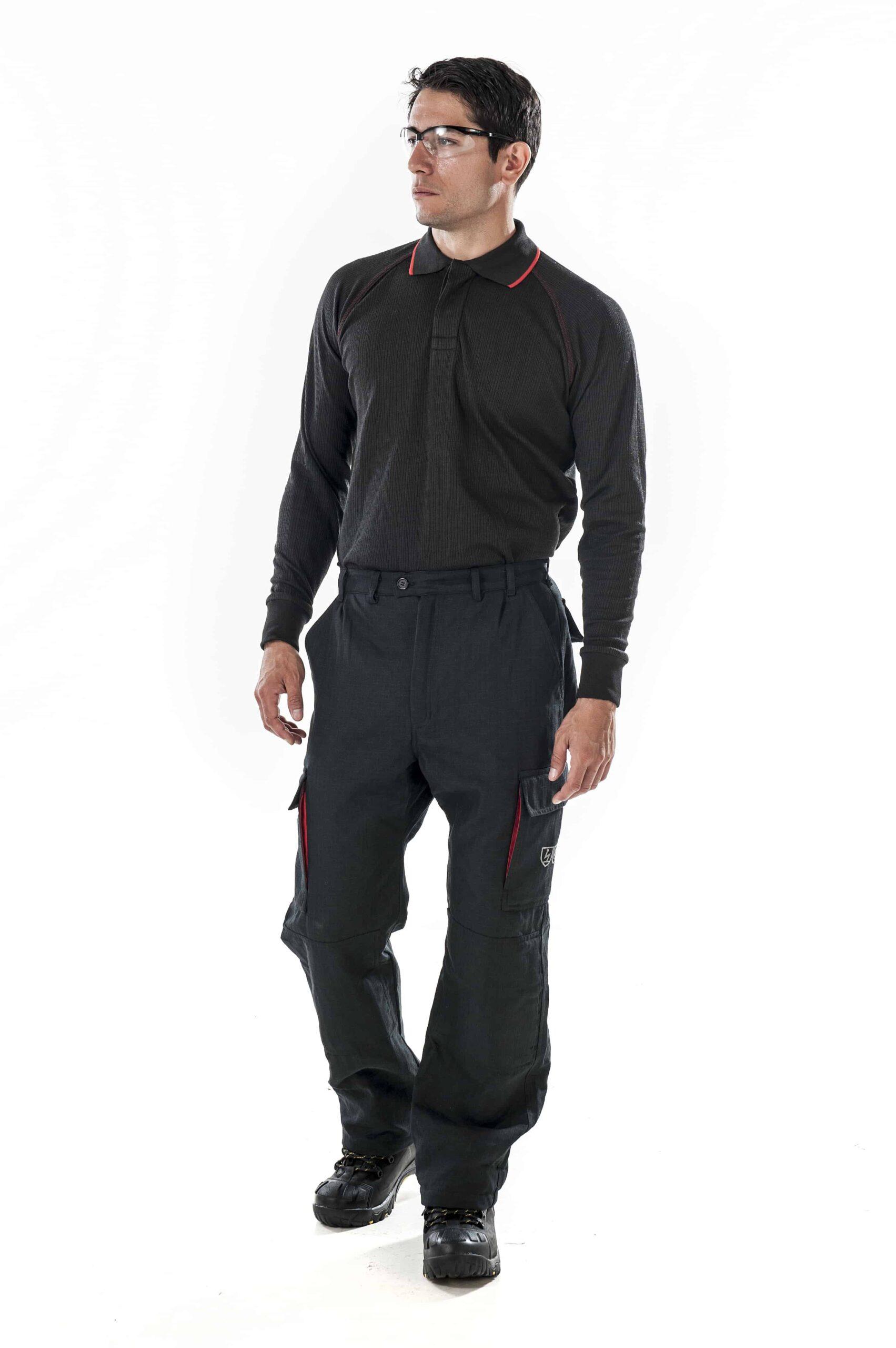 ARCBAN Black Long Sleeved NOMEX POLO