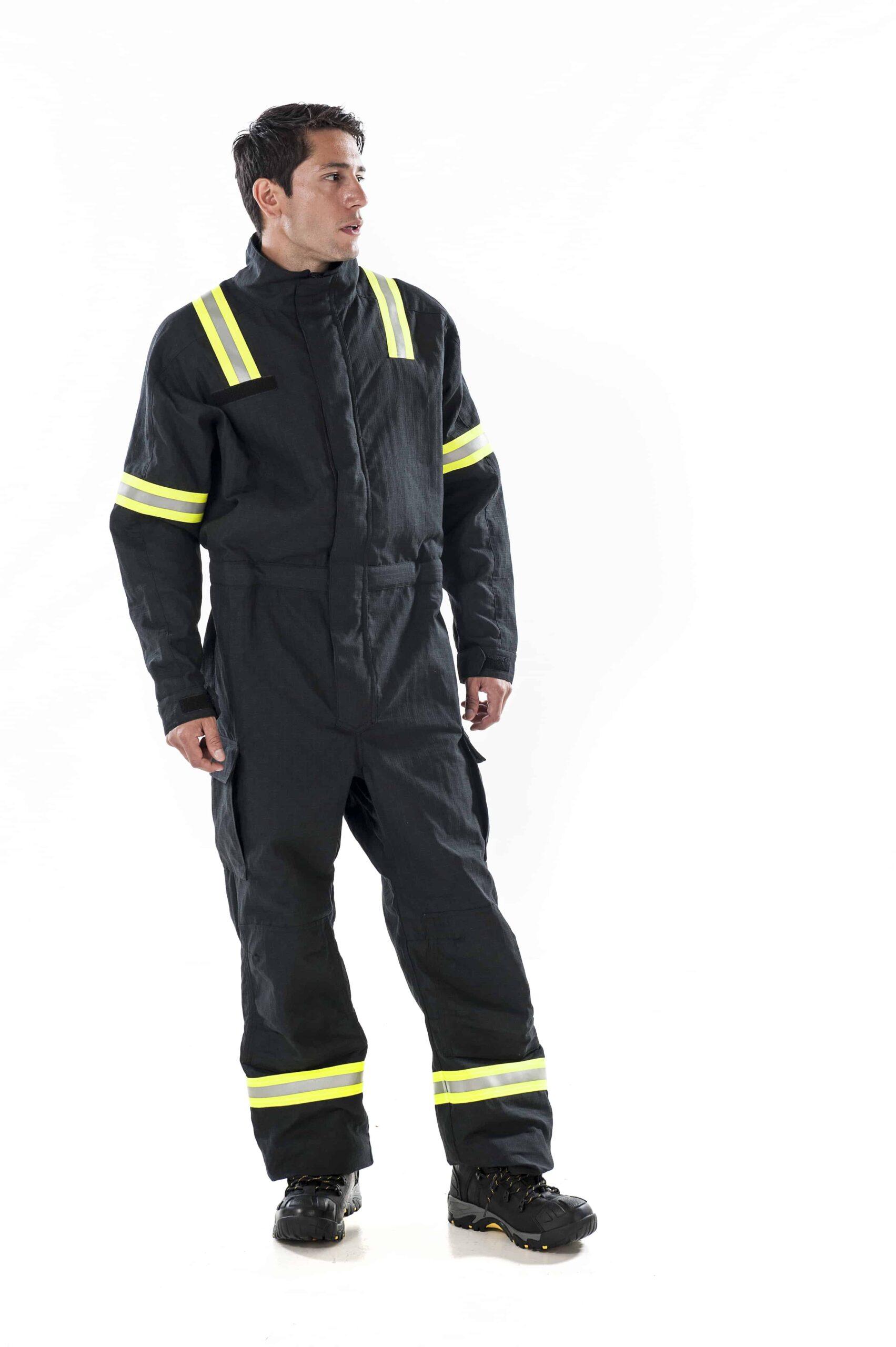 Man wearing ArcBan® E+Arc Coverall