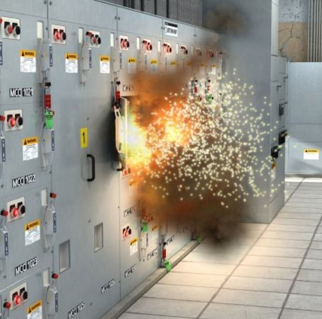 Arc Flash Substation Explosion