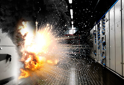 Arc flash safety protect from blast injury