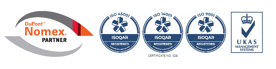 Dupont Nomex Partner and ISO credentials